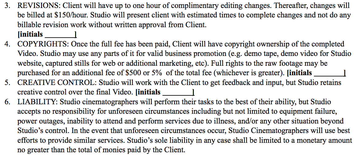 Contract Clauses You Should Never Freelance Without | What 15 Years Of Writing Videography Contracts Has Taught Me Frame