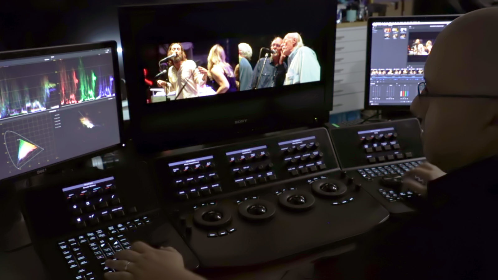 Color grading remotely