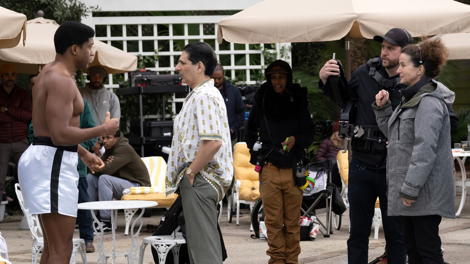 Eli Goree and Michael Imperioli run the scene as Tami Reiker watches.