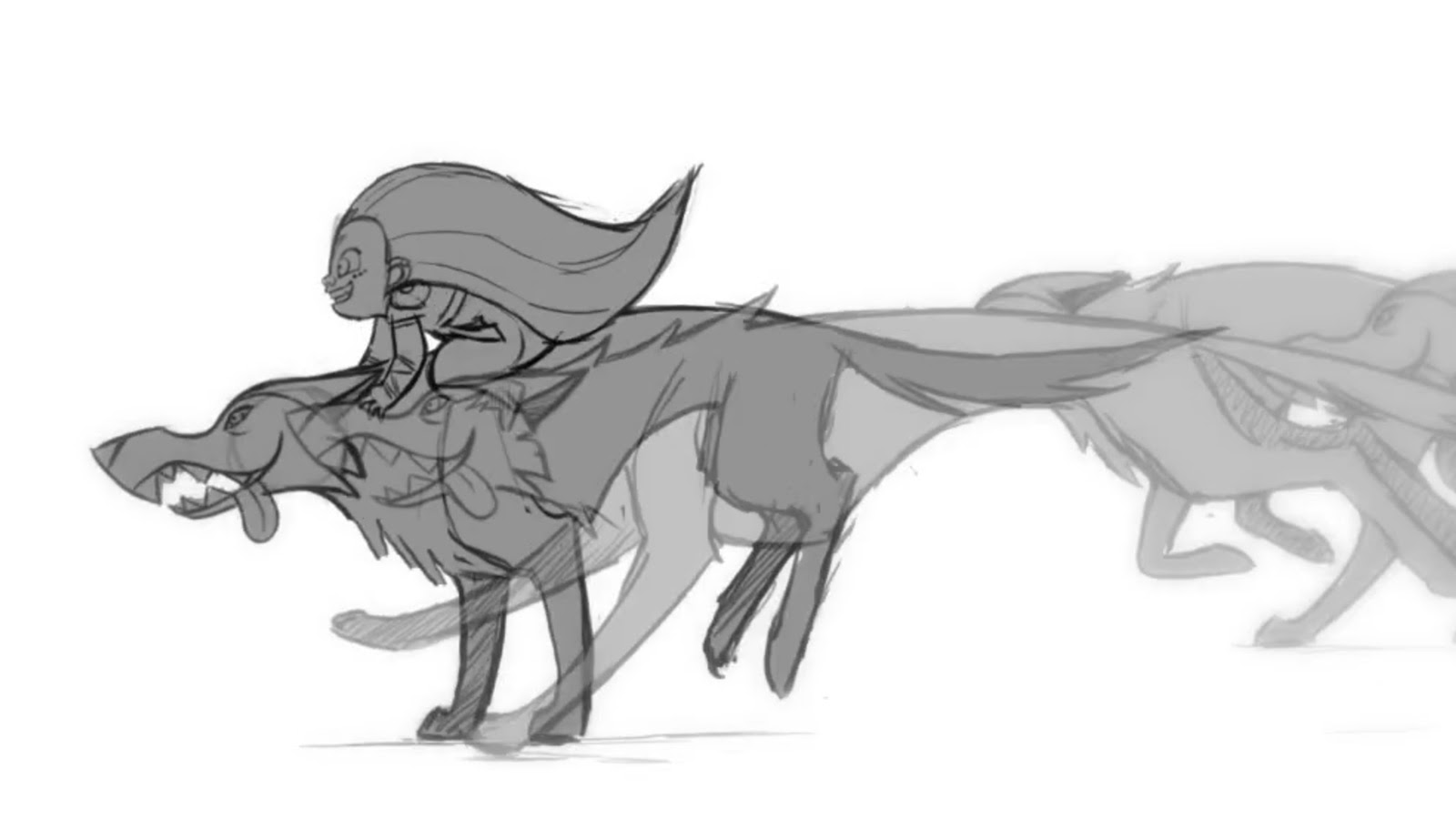 Pre-production animation test from Wolfwalkers.