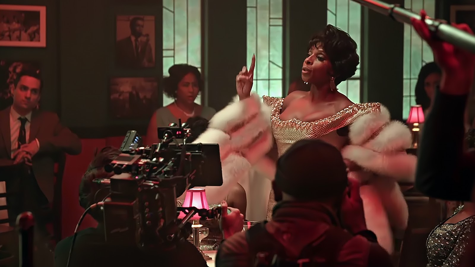 Behind the scenes of RESPECT with Mary J Blige.
