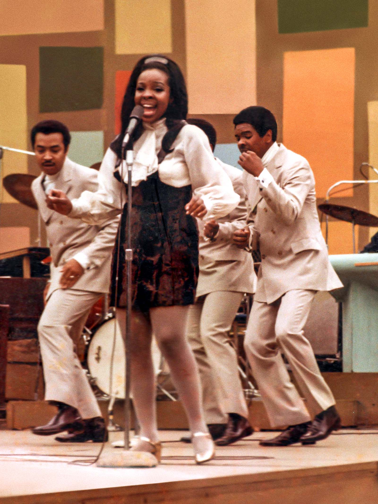 Gladys Knight and The Pips perform at the 1969 Harlem Cultural Festival. Image © 20th Century Studios